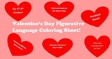 Valentine's Day Figurative Language Coloring Sheet!