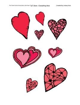 Valentine's Day File Folder Activities