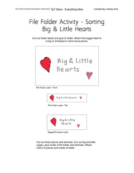 Valentine's Day File Folder Activities