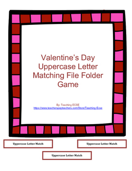 Valentine's Day File Folder: Alphabet Matching