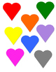 Valentine's Day File Folder: Colored Heart Matching
