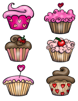 Valentine's Day File Folder: Cupcake Matching