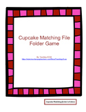 Valentine's Day File Folder: Cupcake Matching