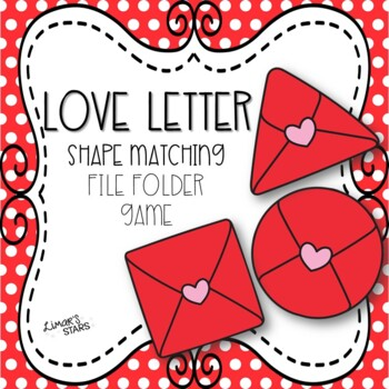Valentine's Day File Folder Game: Shapes Matching