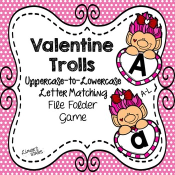 Valentine's Day File Folder Game: Uppercase to Lowercase A-L