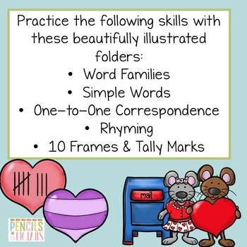 Valentine's Day File Folder Games - Morning Work, Center Activities, & More!