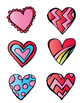 Valentine's Day File Folder: Patterned Heart Matching