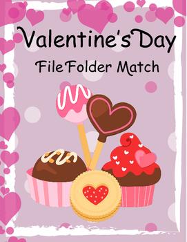 FREE Valentine's Day File Folder Match