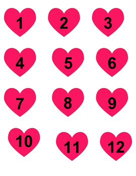 Valentine's Day File Folder: Numbers