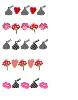 Valentine's Day File Folder: Patterns