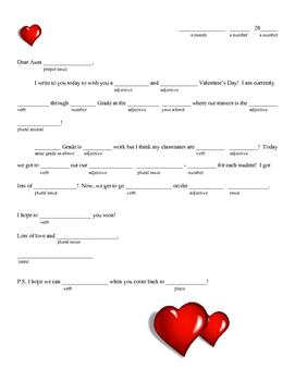 Valentine's Day MadLib Fill-in Funny! **Freebie!**