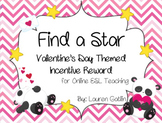 Valentine's Day Find A Star Reward System for Online ESL Teaching