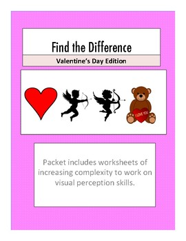 Valentine's Day Find the Differences Packet