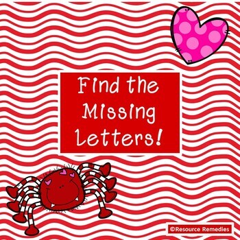 Valentine's Day Find the Missing Letters