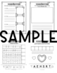 Valentine's Day - Fine Motor Activity Packet - Color, Write, Cut, Glue - heart