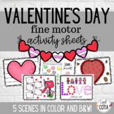 Valentine's Day Fine Motor Activity Sheets