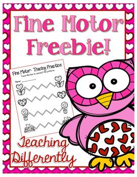 Valentine's Day Fine Motor Freebie!