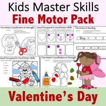Valentine's Day Fine Motor Activities Pack