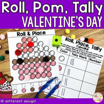 Valentine's Day Fine Motor Pom Pom Tally & Counting Activity