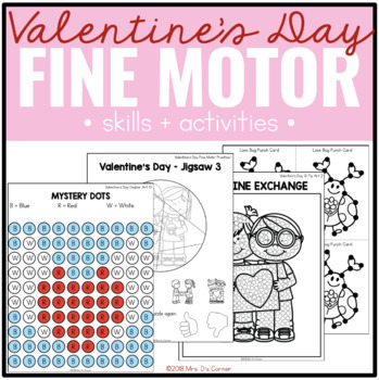 Valentine's Day Fine Motor Practice, Skills and Activities