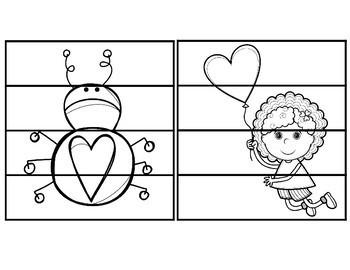 Valentine's Day Fine Motor Puzzles