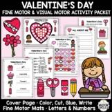 Valentine's Day - Fine & Visual Motor - Color, Write, Cut, Glue
