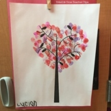Valentine's Day Fingerprint Tree Template