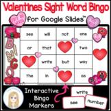 Valentine's Day First 100 Sight Words Interactive Bingo Ga