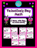 Valentine's Day--1st grade--I have, who has... ten frame math activity