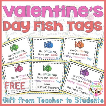 Valentine's Day Fish Themed Tags(FREE)