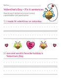 Valentine's Day - Fix it sentences