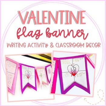 Valentine's Day Flag Banner Activity