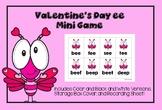 Valentine's Day  ee Vowel Team Phonics Game