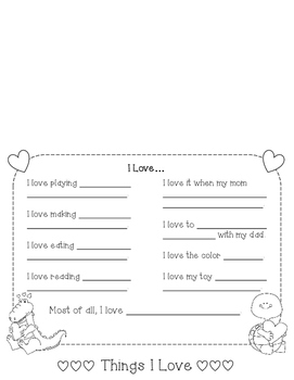 Valentine's Day Flip Book
