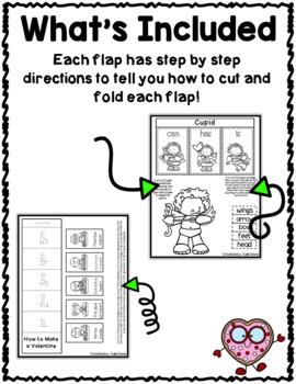 Valentine's Day Flippy Flaps Interactive Notebook Lapbook