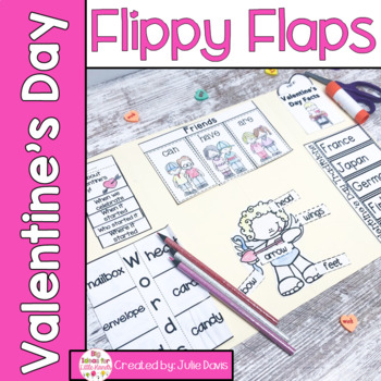 Valentine's Day Activities Interactive Notebook Lapbook