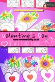 Valentine's Day Flower Heart Paper Craft Bundle