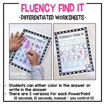 Valentine's Day Fluency Find It (Kindergarten)