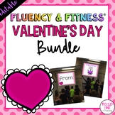 Valentine's Day Fluency & Fitness® {EDITABLE} Brain Breaks