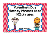 Valentine's Day Fluency Phrases Race