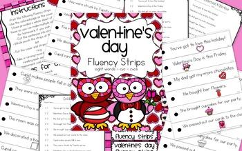 Valentine's Day Fluency Strips