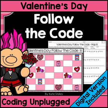 Valentine's Day Follow the Code (Coding Unplugged)