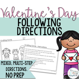 Valentine's Day Following Directions Coloring Pack
