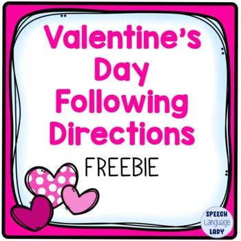 Valentine's Day Following Directions FREEBIE