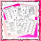 Valentine's Day Following Directions Worksheets