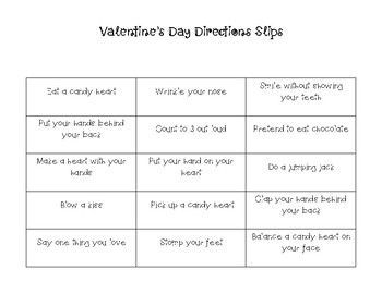 Valentine's Day Following Multistep Directions Board Game