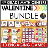 Valentine's Day 4th Grade Math Centers BUNDLE - Valentine's Day Math Activities