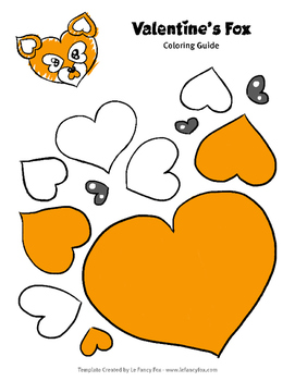 Valentine Fox Animal Template