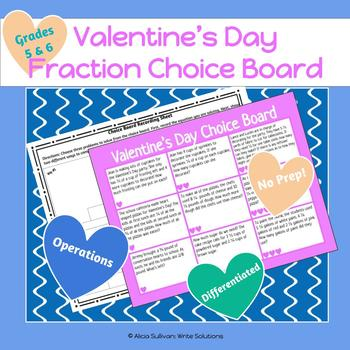 Valentine's Day Fraction Activity