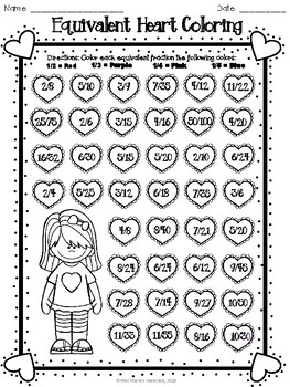 Valentine's Day Fraction Activity Pack